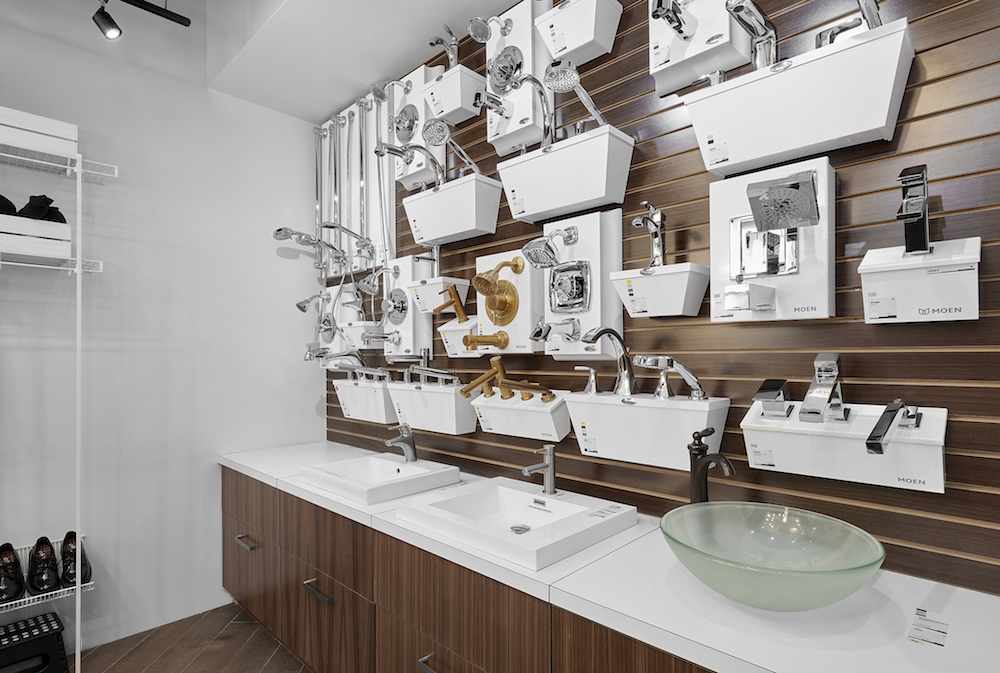 faucets, taps and shower heads at a design center