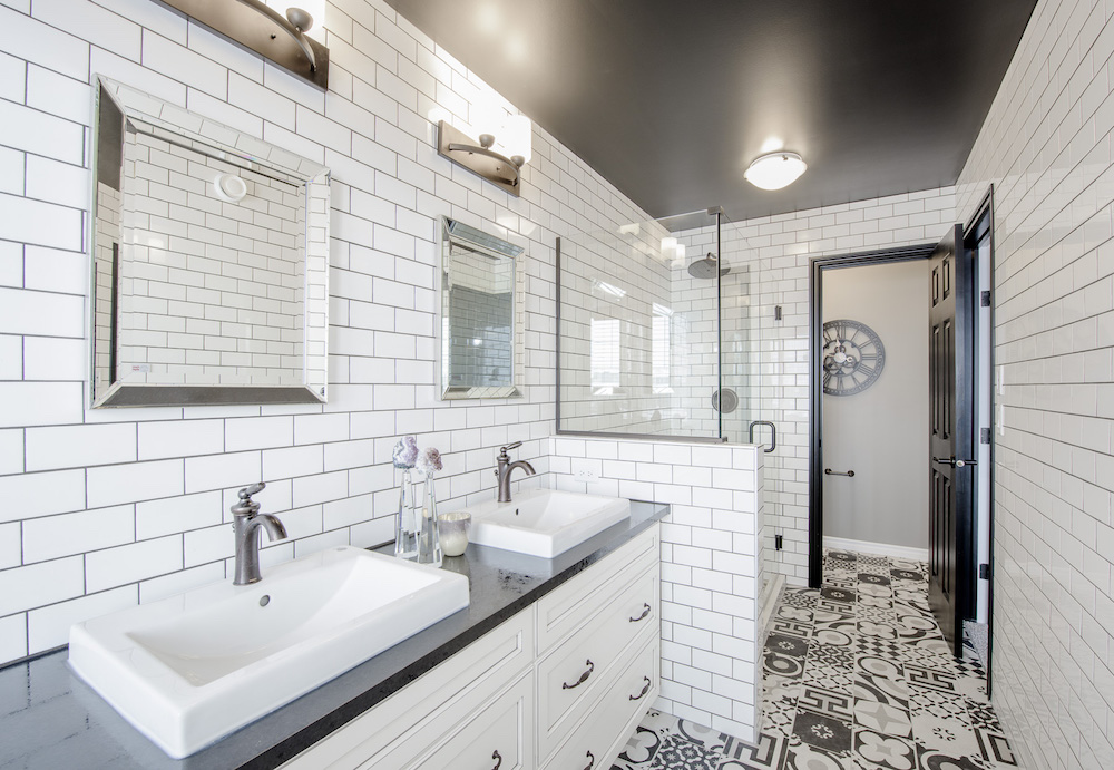 bathroom in a new home