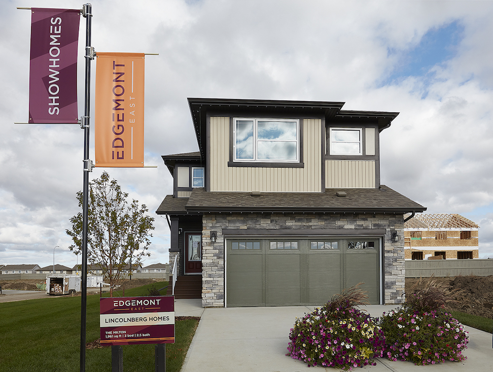 front attached garage home in edgemont east