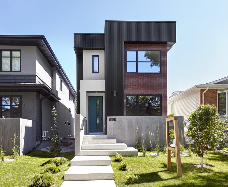 an infill home in edmonton